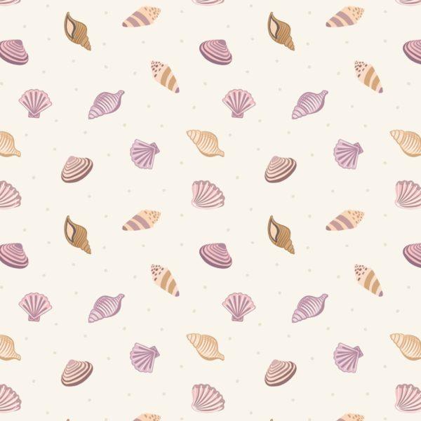 Sea Shells on Cream