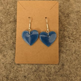Azure Drop Heart Earring 4
