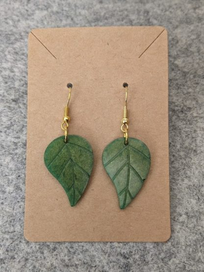 Emerald Drop Leaf Earring